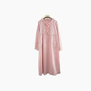 Dislocation vintage / ruffled pink cotton dress no.924 vintage