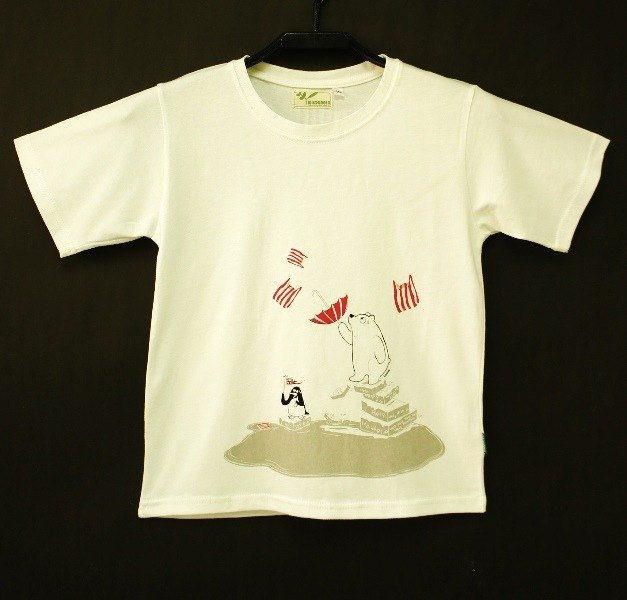 Organic Cotton Tee shirt  Meeting White Bear  for kids