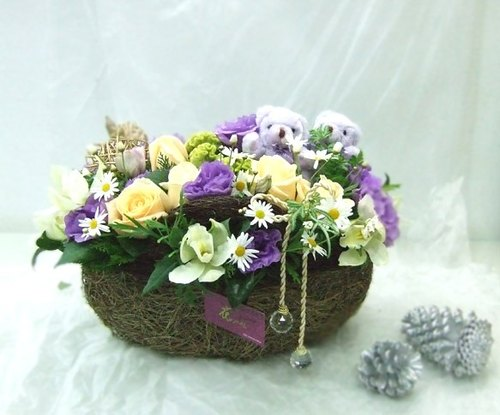 Bear Flower Basket