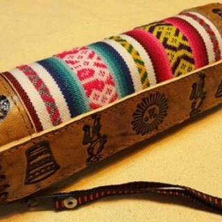 Peru weaving feel hard pencil box stitching - Leather Totem mark - IOUs