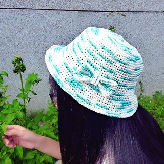 Butterfly in summer sunny sky Rafi straw hat