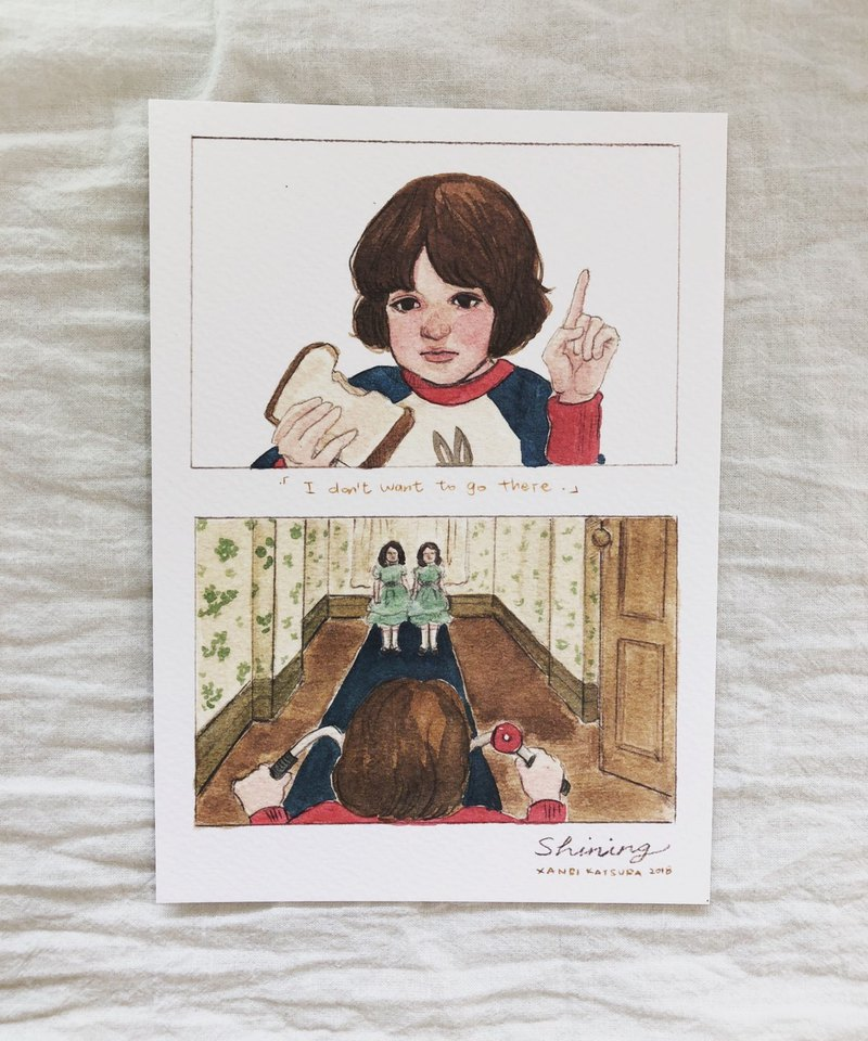 Ghost Shop / Shining / The Shining Movie Illustrator Postcard Danny and Twins
