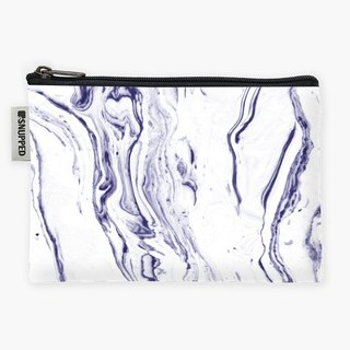 Snupped Zipper - Accessories Pouch - Navy Blue Marble