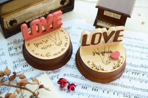 [Valentine's Day gifts, souvenir gifts, Christmas gifts] Love LOVE super-dimensional engraving laser I love you custom music box music box