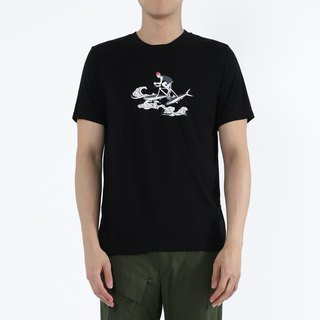 Fishy Water - Milkfish Knight Collagen Print Tee (Black)
