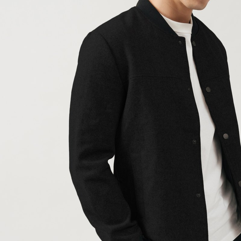 JERSCY wool and wool baseball jacket