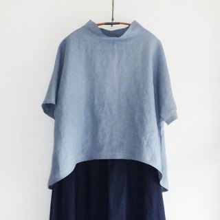 French linen pullover lightblue