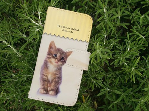 [All models corresponding Free Shipping ☆ [notebook type] kitten sits sit kitten Sumahokesu