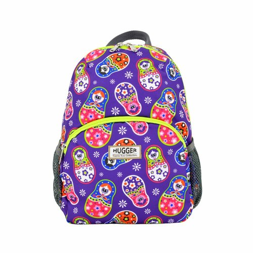 HUGGER toddler backpack Russian doll fun colorful graffiti