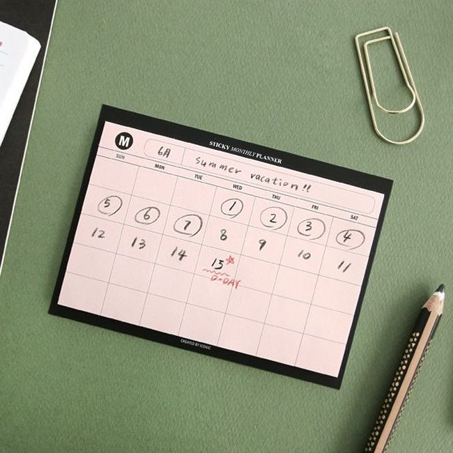 iconic Beginning of School - Handy Month Notepad - Powder, ICO88394