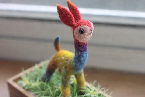 Natural plant dyed rainbow deer