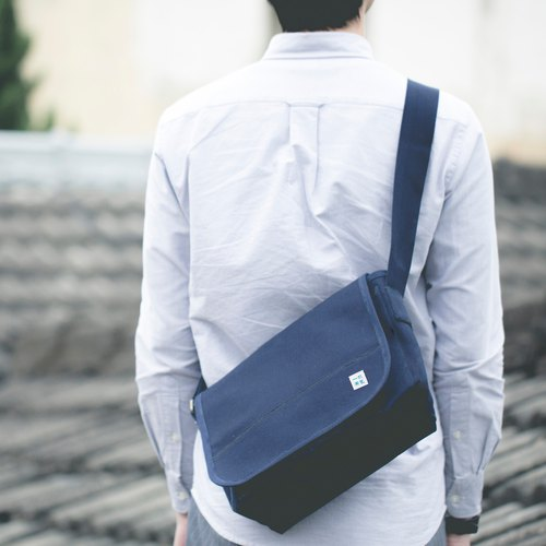 Canvas Stiff Handmade Messenger Bag (Leaning Backpack) - L