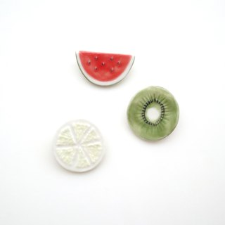 Cut fruit brooch