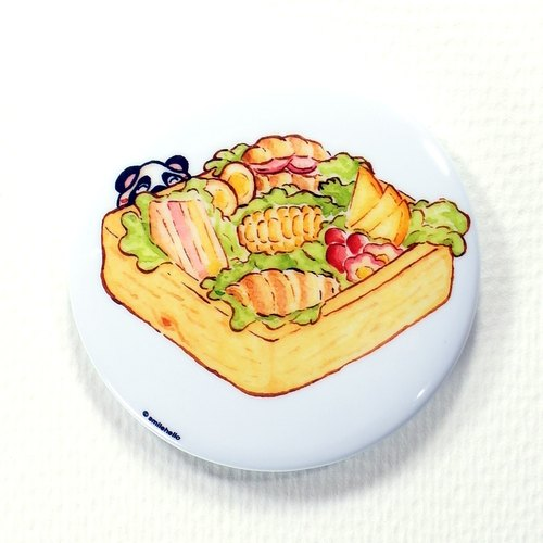 Good light breakfast / Laugh hi Smilehello Illustrator log badge pin