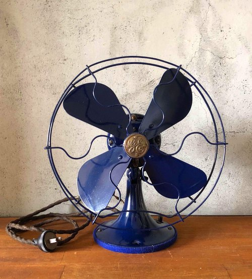 American strange appliances antique electric fan blue JS