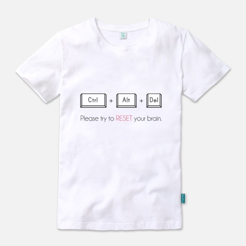 (welfare) please try to reset your brain. - Neutral short sleeve T-shirt