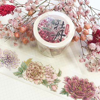 [富贵花开] Peony flower gilding paper tape (including bottom paper)