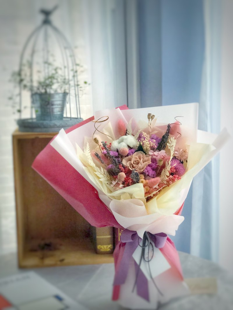 Graduation Bouquet - Maiden Heart - Pure Heart - Free Hearty - Happy Not Withered + Dry Bouquet