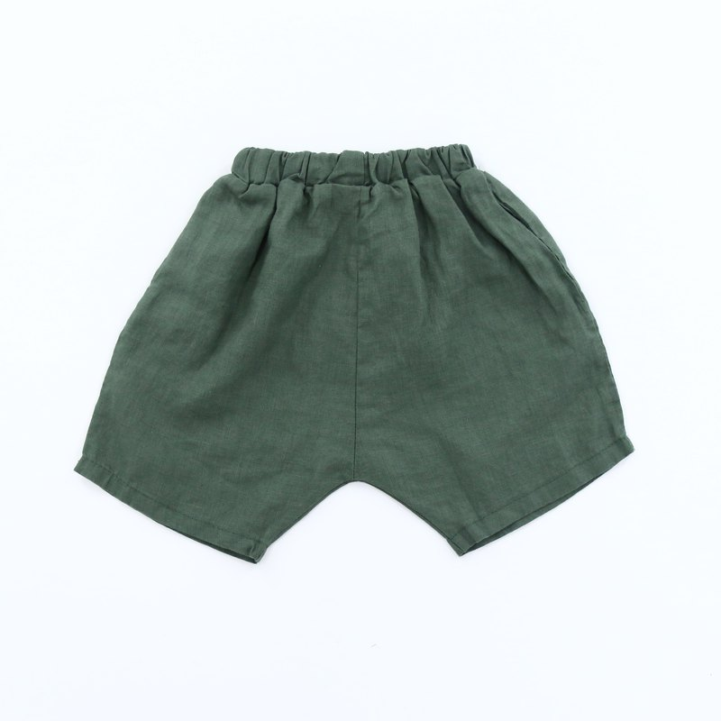 Boys and girls cotton pants - green