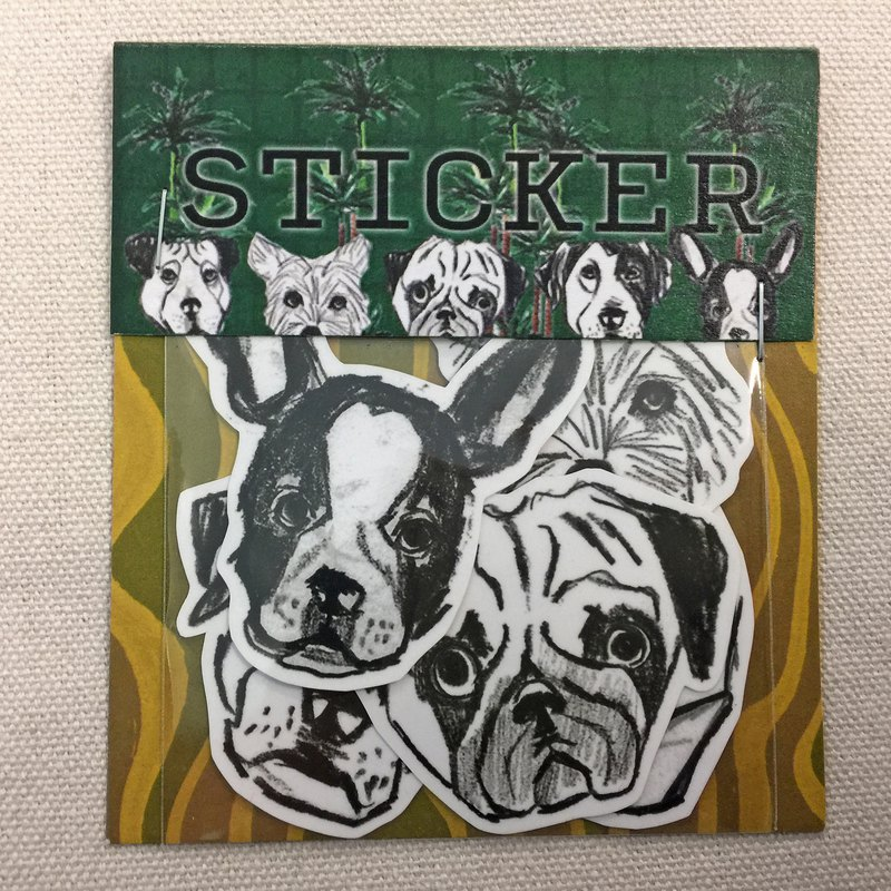 Various dog hook sticker group