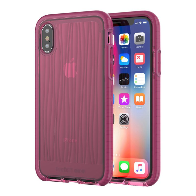 Tech21 iPhone X Collision Soft Water Ripple Case - Burgundy (5055517385664)