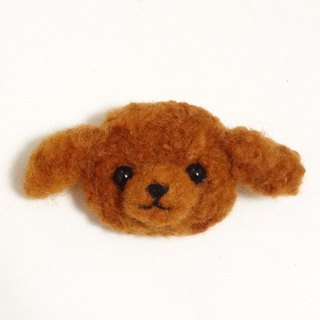 Poodle - Wool felt (Safety pin or magnet)