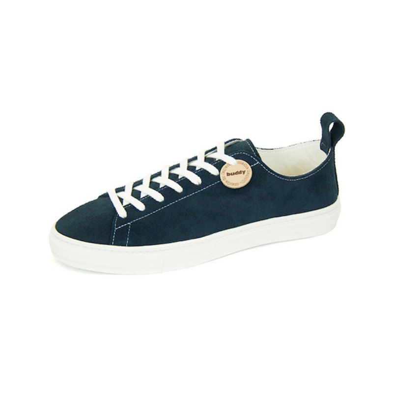 Bull Terrier Low Navy / navy leather sneakers