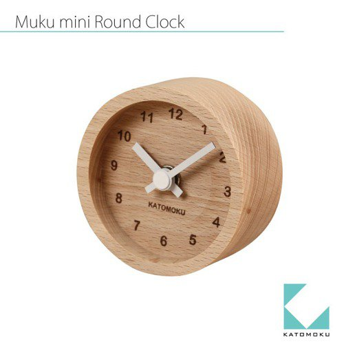 KATOMOKU mini round clock white