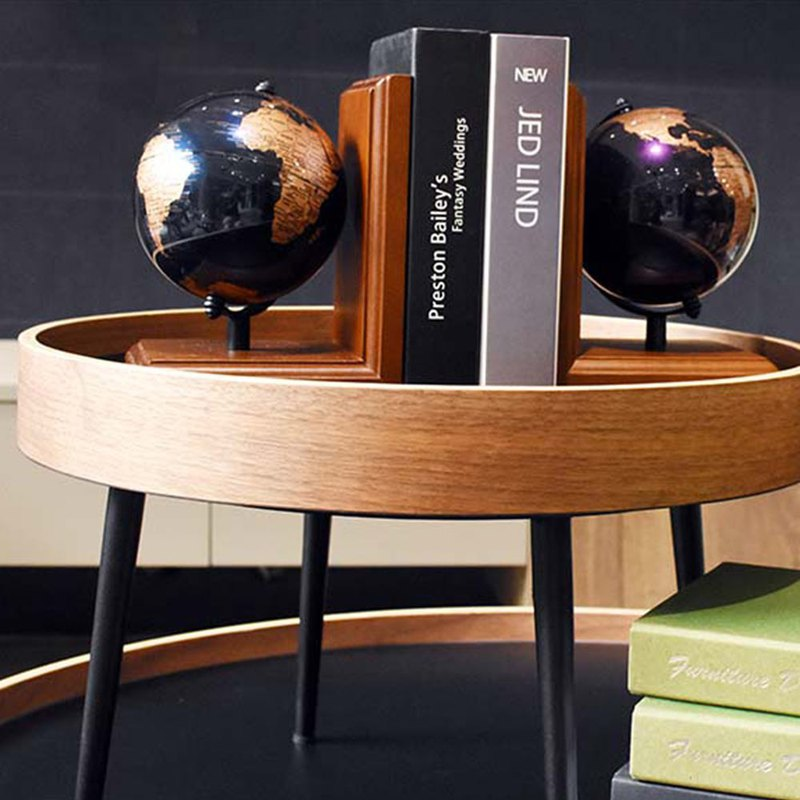 SkyGlobe 5吋 Fashion Wood Bookshelf Globe - English Edition (Metallic Purple / Metallic Blue)