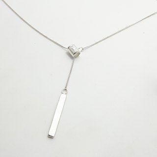 S17-Yu smith student works - 925 sterling silver necklace - can be typed jewelry to help you customize English + number