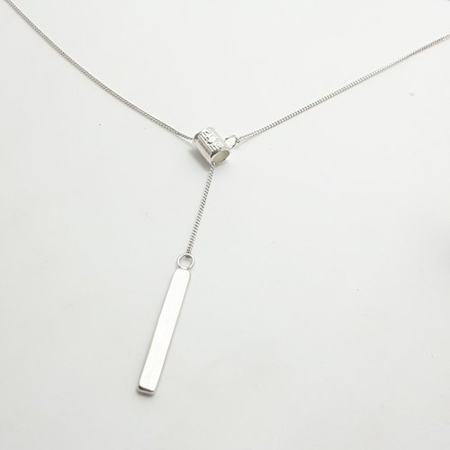 S17 - Royal Crafts Student - 925 sterling silver necklace - can be knocked on jewelry to help your guest English + digital