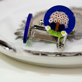 ITA BOTTEGA [Made in Italy] MURANO Life Tree Cufflinks