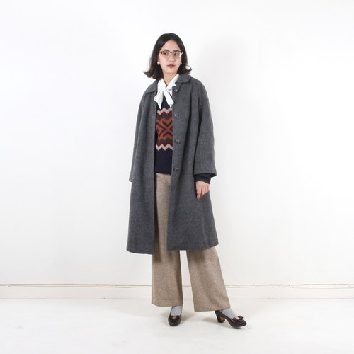 Egg plant vintage gray time umbrella vintage coat
