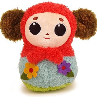 """Big ear quack"" villi doll - Russian doll (red scarf)"