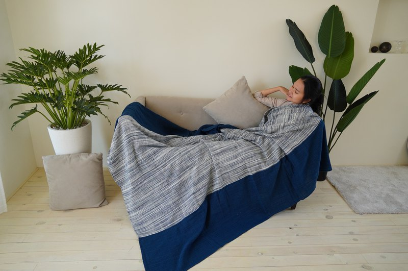 Heng Heng / / hand woven hand-woven. Cotton plant dyed / / skin-friendly blanket