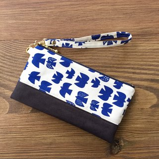 Jade Bird - Suede Pouch Cosmetic Bag Phone Bag