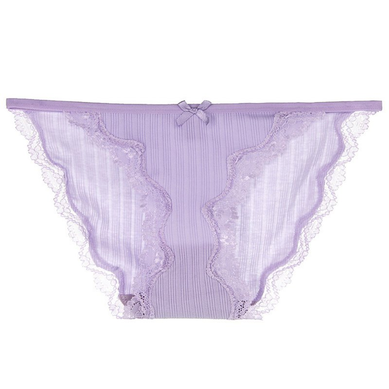 Waist word design underwear, light purple