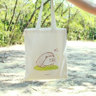 [Animal series # 1 canvas bag busy hedgehog