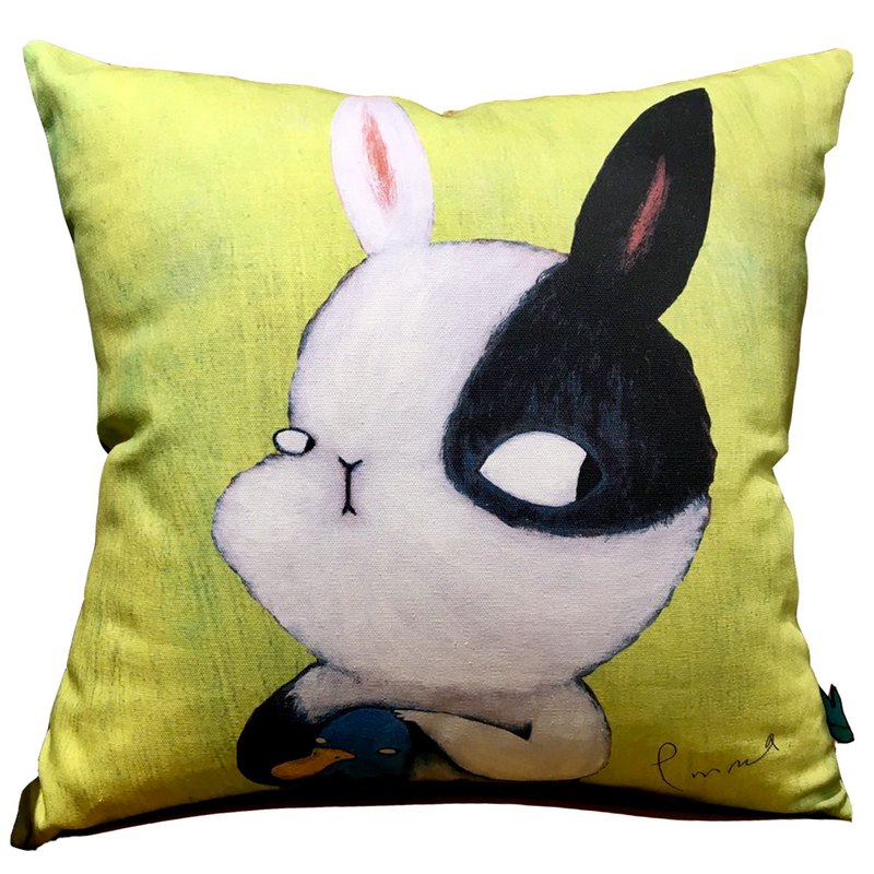 emmaAparty illustration pillowcase: peek at the rabbit together (limited edition)