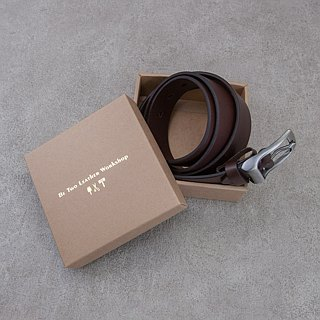 Be Two ∣ 38mm Italian vegetable tanned leather handmade belt / widened belt / imprinted name (dark coffee)