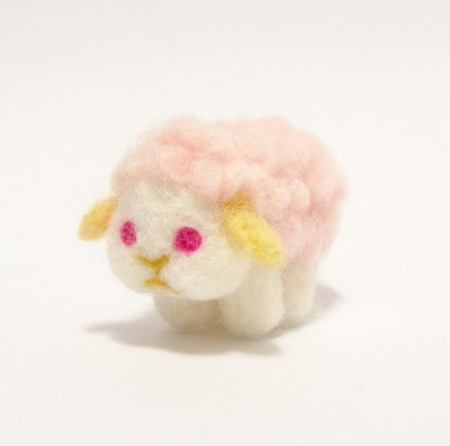 Chubby little cheeks pink sheep - wool felt (can be customized to change the color)