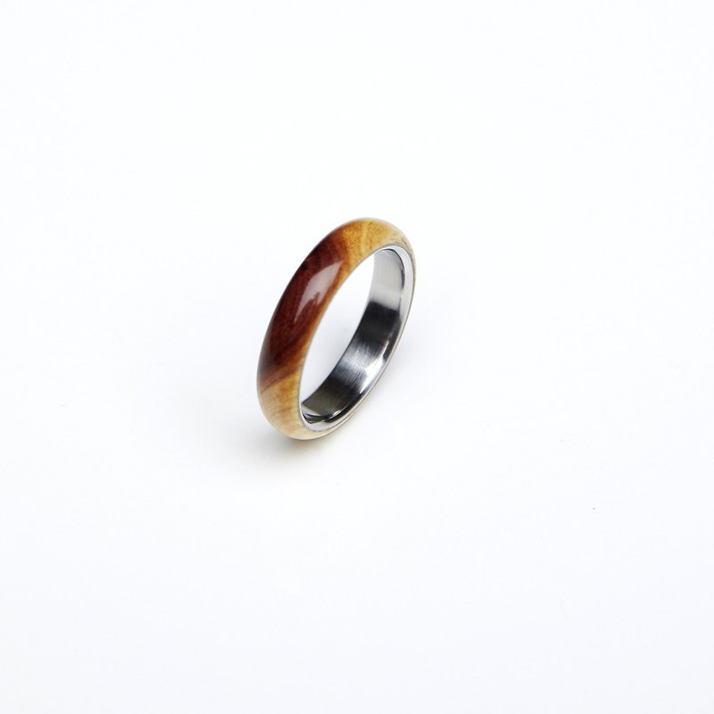 Fine curved arc cypress wood ring