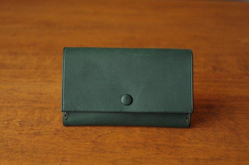 【受注生産】Business Card Case/bluegreen×yellow