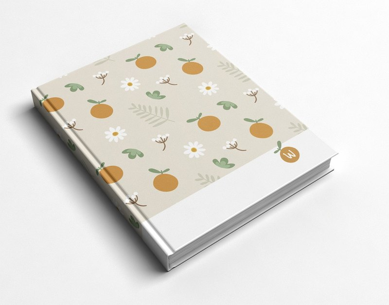 ☆ ° Rococo Strawberries WELKIN Handwork Handbook / Notebook / Hand / Diary - Small Oranges
