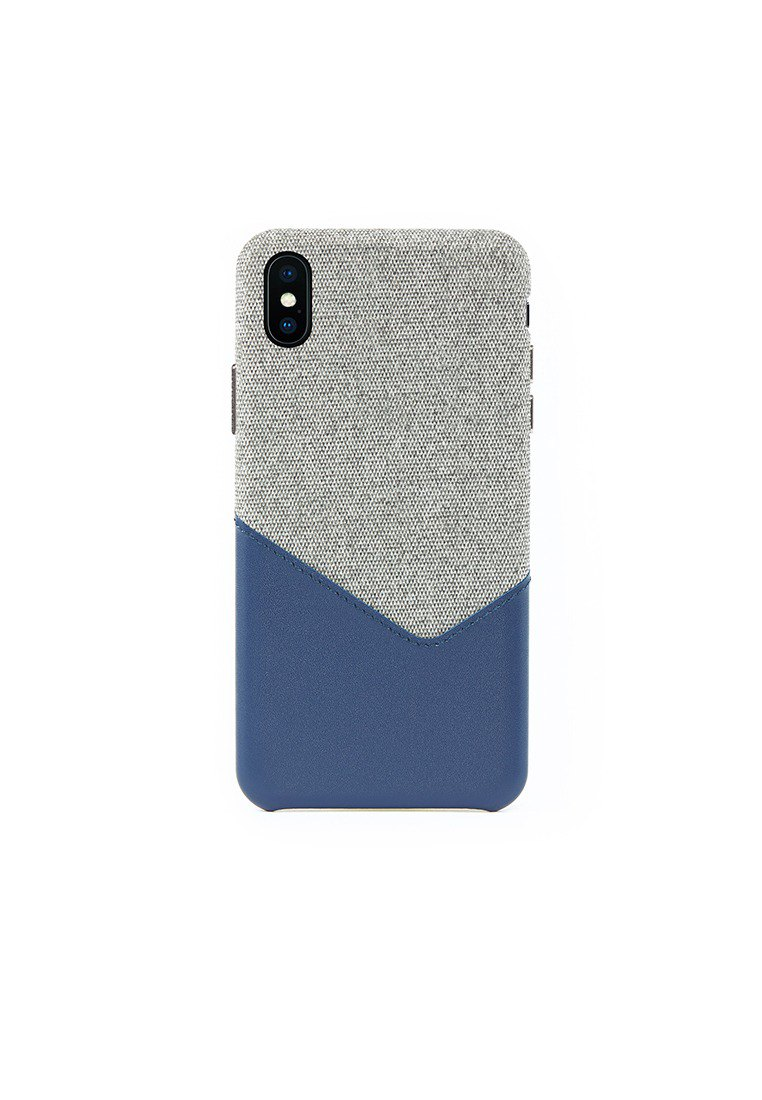 Lavender iPhone Xs Max Fabric Mixed Leather Snap-On Case