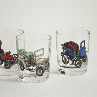 Early German second-hand antique car glass small glasses / shot cup