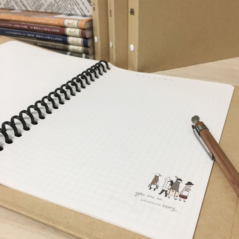 Berger Stationery x Traveler [26-hole square loose-leaf paper]