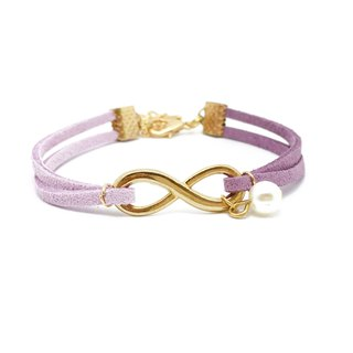 Handmade Infinity Bracelets Rose Gold Series– lavender purple limited