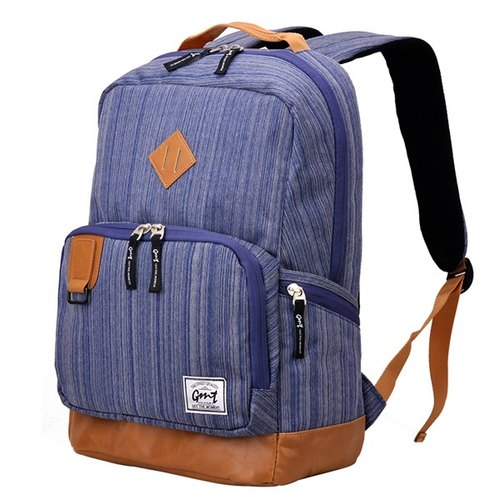 After [011006-04] GMT Norwegian fashion brand classic pig nose attached blue backpack 15 inch laptop Sandwich
