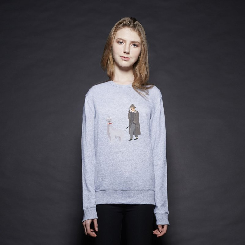 British Fashion Brand [Baker Street] Walking the Alpaca Printed Sweater